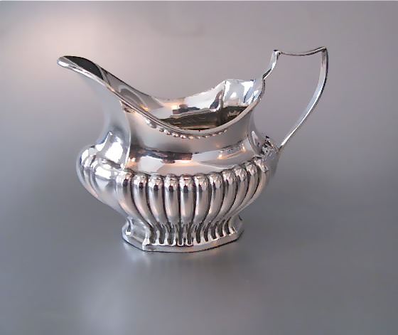 Engels Antiek Zilver.3 Delig Engels 1e Gehalte Antiek Zilveren Theeservies Serviezen